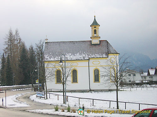 A beautiful snow-covered chapel