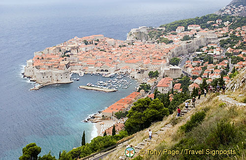 Panoramic view of the Walled City of Dubrovnik