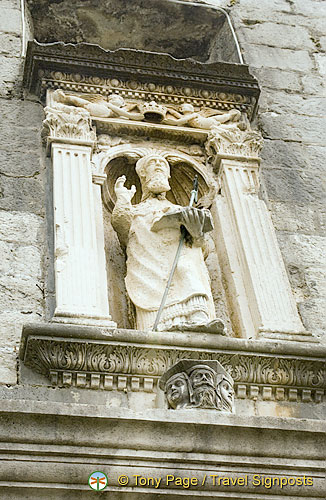Statue of St. Blaise, patron saint of Dubrovnik