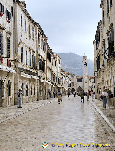 Stradun (Placa), the main street of Dubrovnik Town Centre