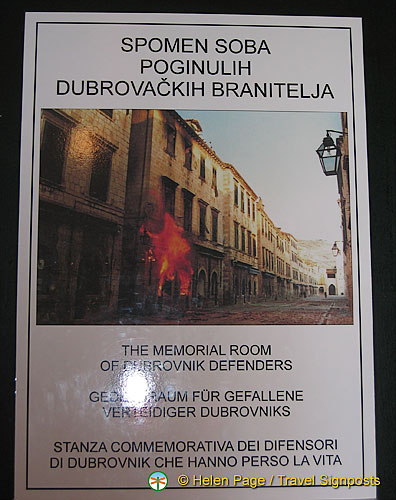 The Memorial Room of the Dubrovnik Defenders