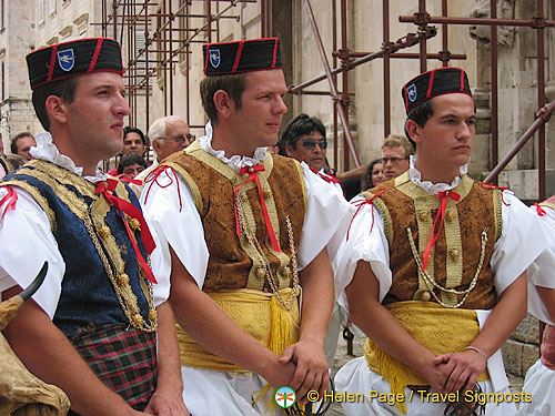 Colorful local parade, Dubrovnik - Croatia