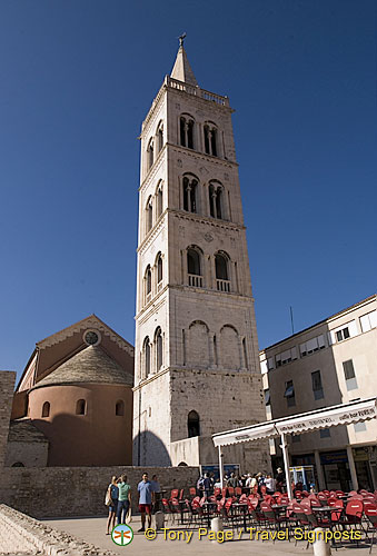 Zadar - Croatia - Romanesque bell tower on Zeleni trg
