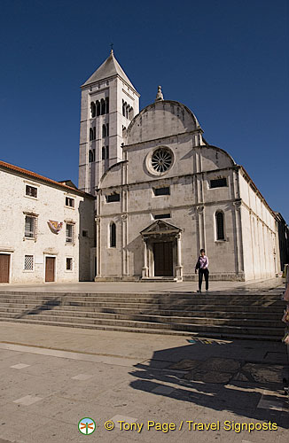 Zadar - Croatia - Church of St. Mary and the Romanesque bell tower.