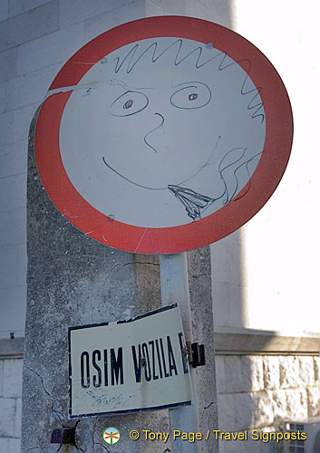 Zadar - Croatia - A friendly street sign
