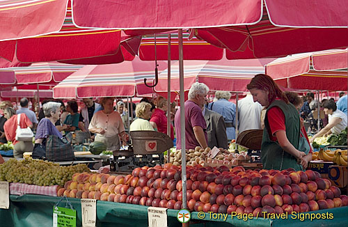 Fruit stalls in Dolac market