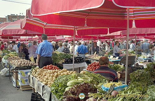 Stalls in Dolac market