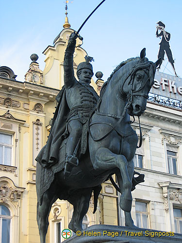 Statue of Croat Govenor Ban Josip Jelacic