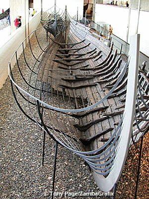 The Museum contains five reconstructed Viking ships (circa 1000)