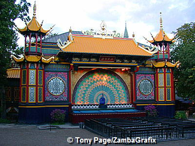 Tivoli is a mixture of gardens, food pavilions, amusement park and various stage shows