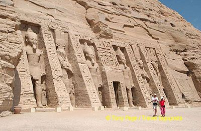 Temple of Hathor was built by Ramses II to honor his favorite wife, Nefertari.