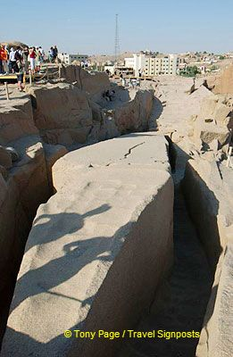Had it been finished, it would have been the largest in Egypt, weighing approx. 1,200 tonnes and about 130 ft. high.