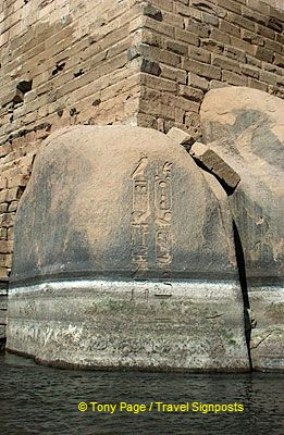 An ancient cartouche engraved on this rock-face.
