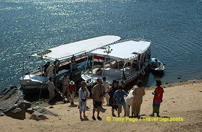 A stop at a small river settlement.[Aswan - Egypt]