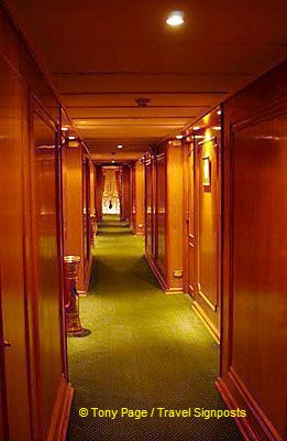 Corridor of our river boat.