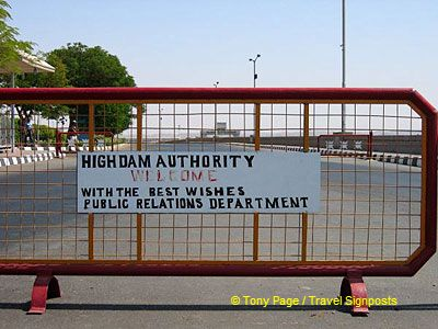 The High Dam Authority welcomes visitors to the Dam.