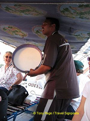 Our tambourine man breaks into song.