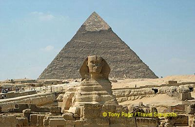 The Sphinx and the Pyramid of Khafrex