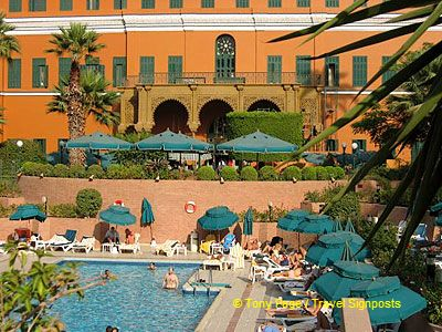 A tree-lined road was also laid for the Empress to the Pyramids.