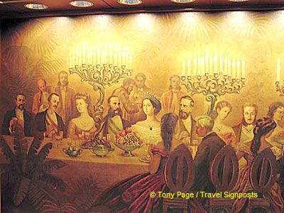 Empress Eugenie with Emperor Franz Josef to her right.