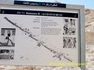 Site map of Tomb of Rameses III
