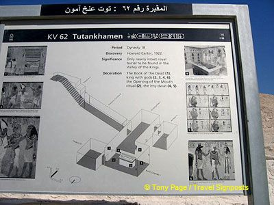 Map of Tutankhamen's Tomb