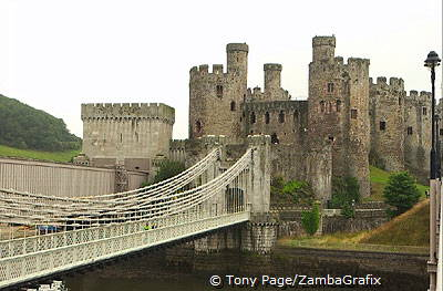 Conwy Castle was built by Edward I in the 13th century