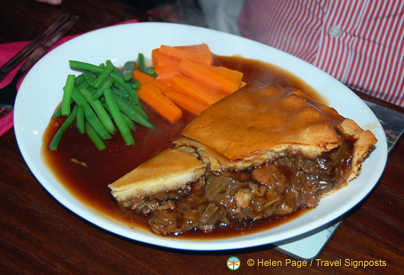 A very huge beef pie - enough to keep you going through winter