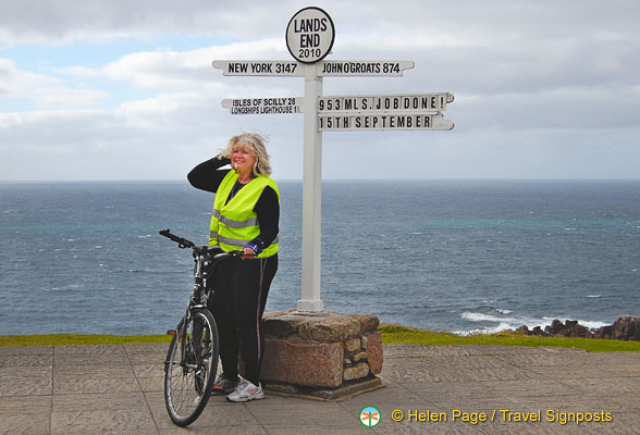 Land's End is a destination on cycling tours