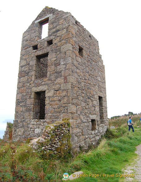 The very well preserved Galver mine engine house