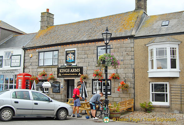 Kings Arms is a 14th century Inn on St Just town square