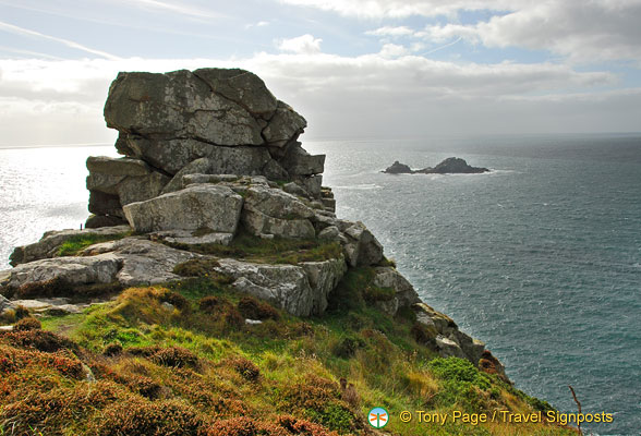 Beautiful rock structures are part of the Land's end landscape