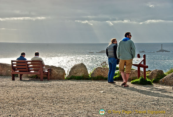 Visitors enjoying Land's End stunning scenery