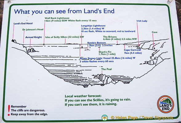 What you can see from Land's End
