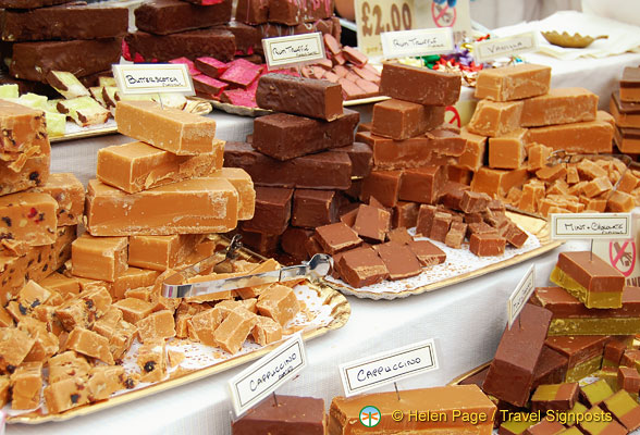 Camden Markets - Different flavours of fudge