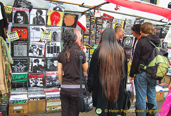Camden Markets - Rock t-shirts