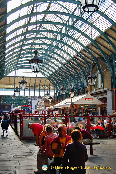 Food and shopping at Covent Garden Market