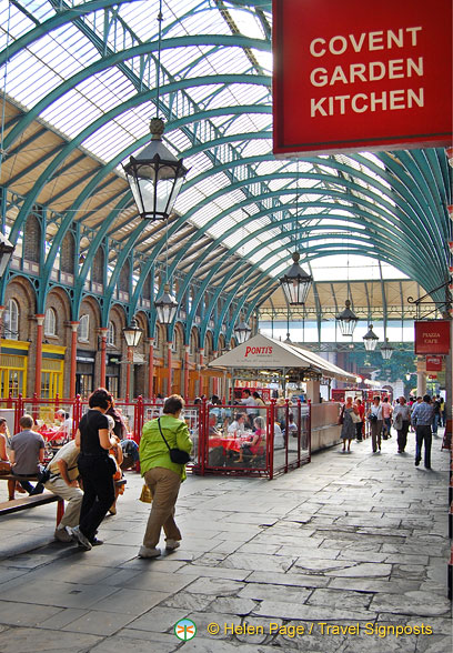 Covent Garden Kitchen is one of the many eateries in the Covent Garden Market building.