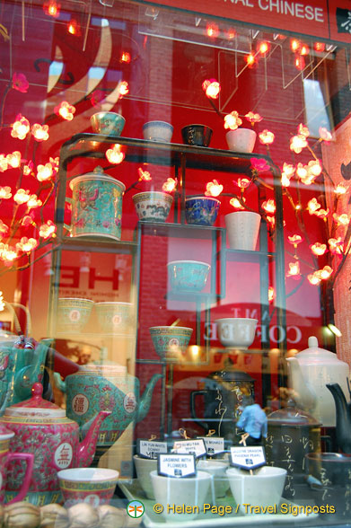 The very beautiful shop window of The Tea House