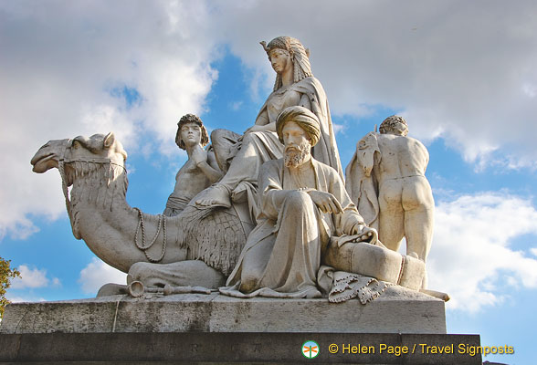 Albert Memorial - Sculpture representing Africa