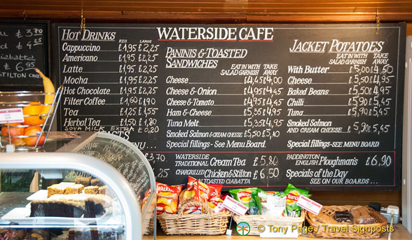 Waterside Cafe menu