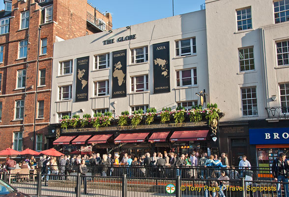 The Globe tavern on Marylebone Road