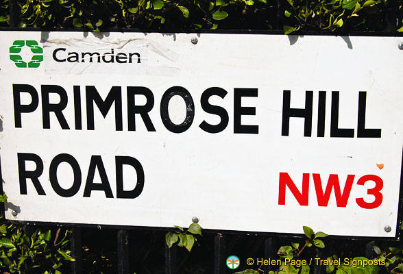 Primrose Hill Road sign