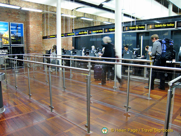 Ticketing desks for travel today