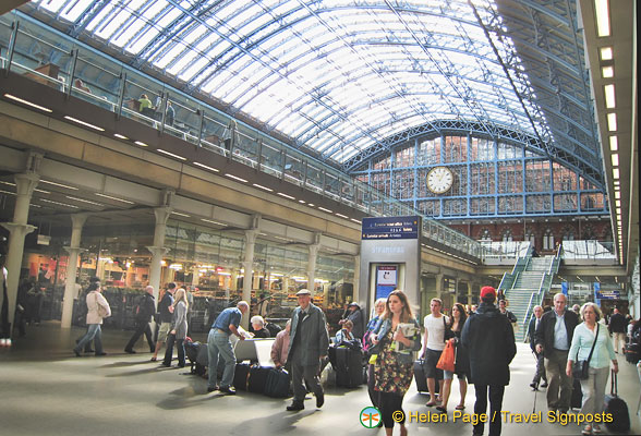 A busy St Pancras, but not as frantic as at the airports