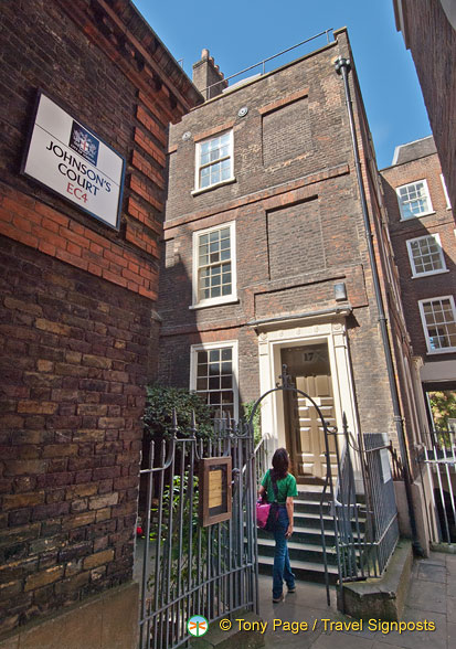 Samuel Johnson's house in Johnson's Court
