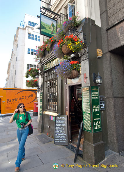 Checking out The Tipperary, another historic pub