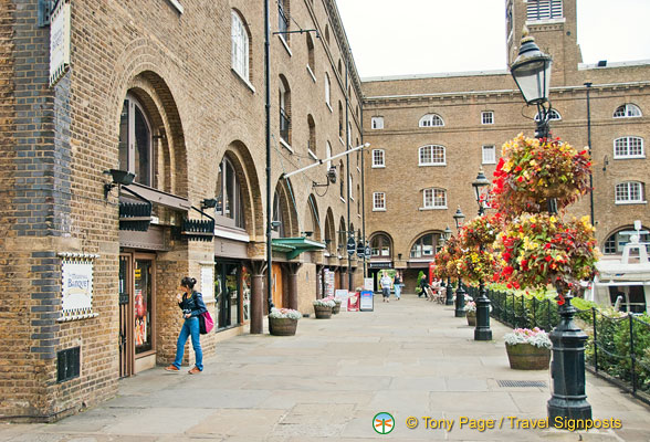 Shopping at St. Katherine's Dock