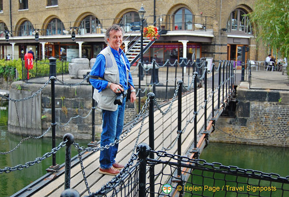 Tony on Telford's footbridge