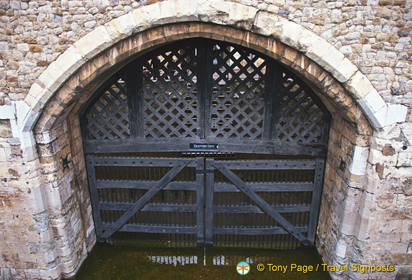 Traitor's Gate where prisoners enter by boat